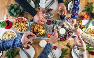 Como decorar la mesa de Navidad